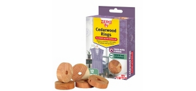 Red Cedarwood Clothes Moth Repellent Rings x 12
