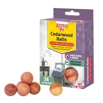 Red Cedarwood Clothes Moth Repellent Balls x 24